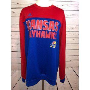 Kansas Jayhawks Large NCAA Adidas Sweatshirt Top